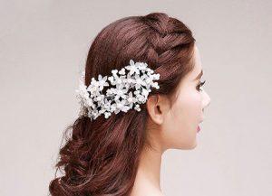 مدل گل سرهای مناسب شینیون+تصاویر