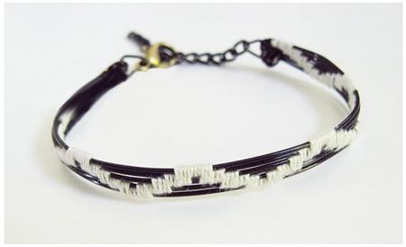 آموزش ساخت دستبند با سیم و کاموا+تصاویر