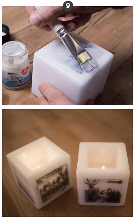 دکوپاژ روی شمع