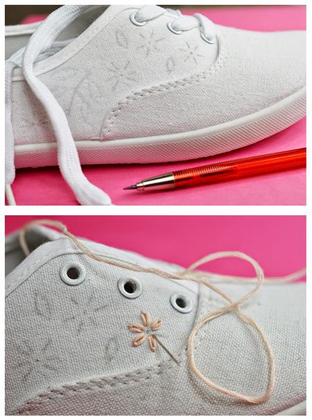 آموزش گلدوزی کفش