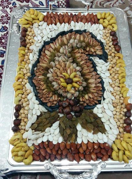 تزئین آجیل شب یلدا