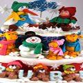 ایده هایی برای تزئین کیک کریسمس +تصاویر