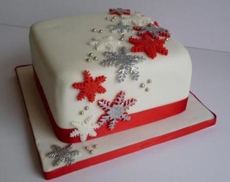 تزئین کیک کریسمس