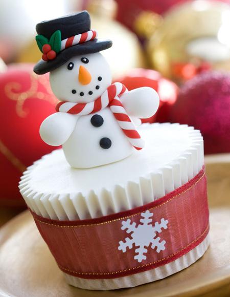 تزئین کاپ کیک کریسمس