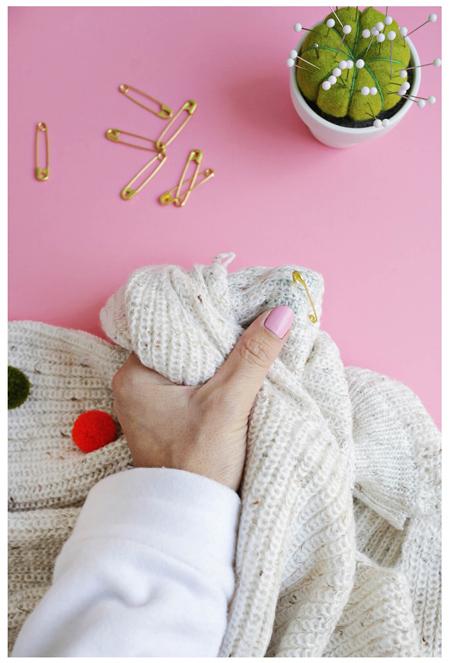 تزیین لباس زمستانی