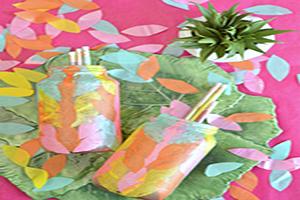 آموزش تزئین شیشه با کاغذ برای ساخت جامدادی+تصاویر