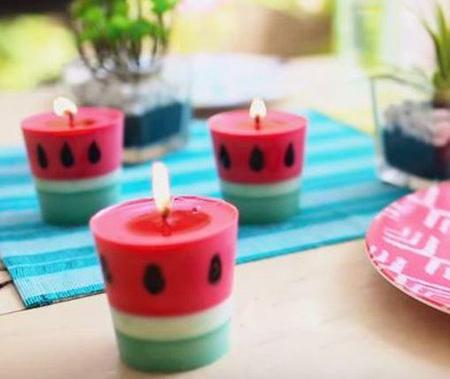 ساخت شمع هندوانه ای