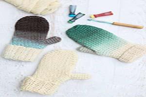 آموزش رنگ آمیزی دستکش بافتنی ساده+تصاویر