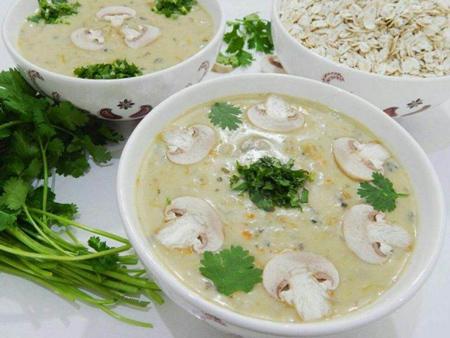 تزئین سوپ جو