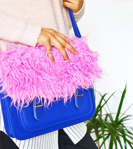 تزئین کیف با خز