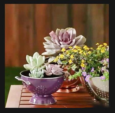 ساخت گلدان با بازیافتی ها