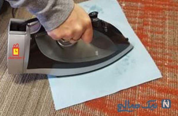 پاک کردن لکه شمع از روی فرش