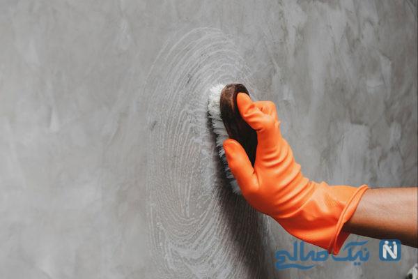 پاک کردن رنگ مو از روی دیوار