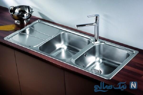 باز کردن راحت و سریع سینک ظرفشویی