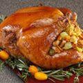 تزیینات و دورچین مرغ شکم پر+تصاویر