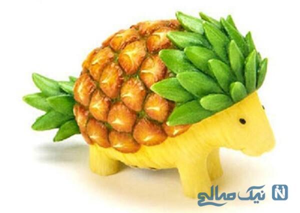 تزیین میوه به شکل حیوان
