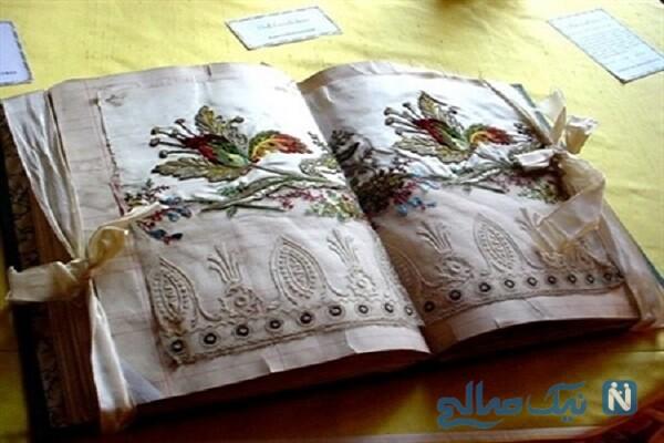 ساخت دفترچه خاطرات دوخت روبان دوزی + تصاویر