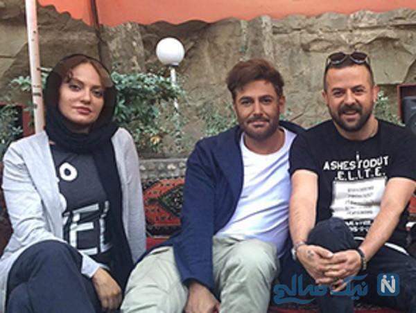 محمدرضا گلزار و مهناز افشار در پشت صحنه سریال عاشقانه + تصاویر