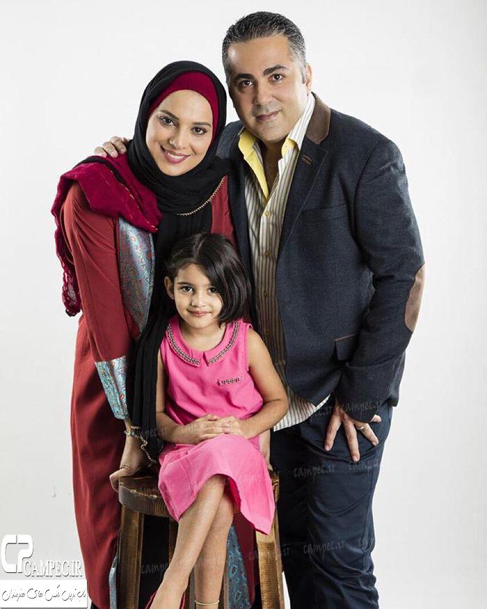 عکس های جدید روشنک عجمیان و همسر و دخترش