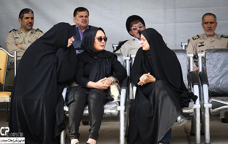 الهام حمیدی در مراسم تشییع پیکر همسر شهید بابایی + تصاویر