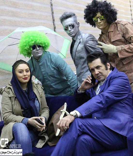 سحر قریشی و حسام نواب صفوی در افتتاحیه فست فود اپتیموس در اصفهان + تصاویر