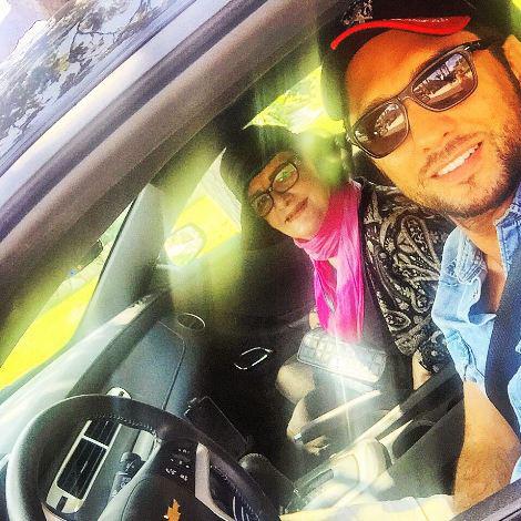 گردش بهرام رادان با مادرش + عکس