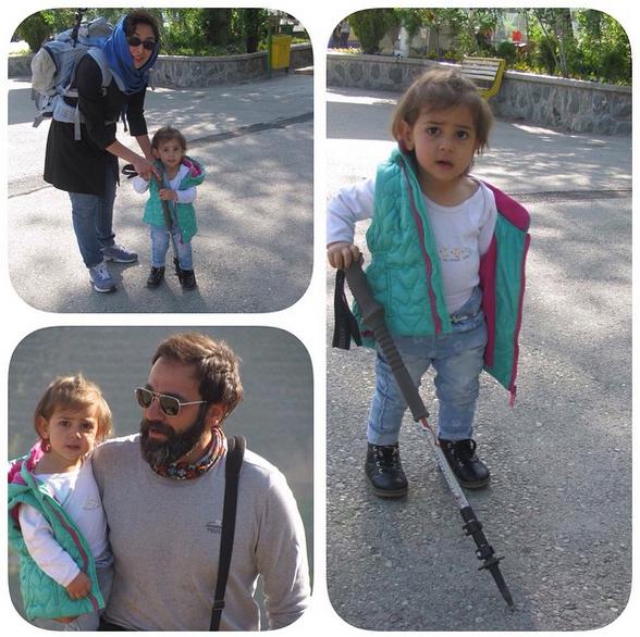 عکس های خانوادگی آرش مجیدی و همسرش میلیشا مهدی نژاد و دخترشان