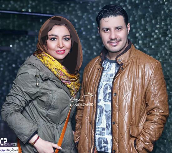 جواد عزتی و همسرش مه لقا باقری در اکران فیلم در مدت معلوم + تصاویر