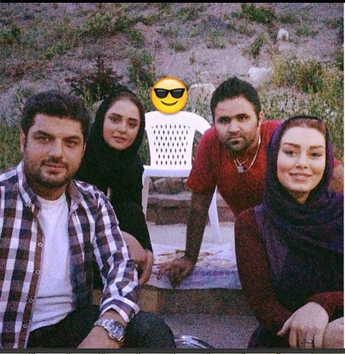 سحر قریشی و نرگس محمدی در پشت صحنه فیلم جدیدشان + عکس