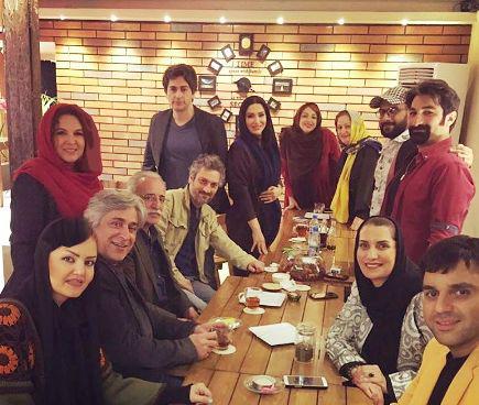 جشن تولد بازیگر زن کشورمان با حضور هنرمندان در یک کافه + تصاویر