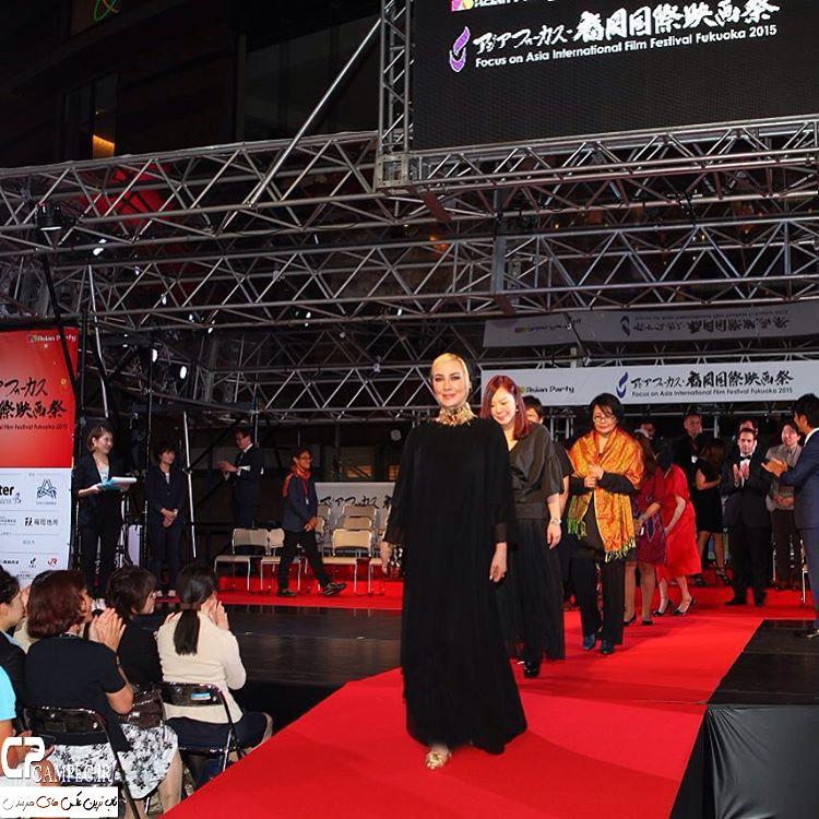 پوشش جدید آناهیتا نعمتی در جشنواره فیلم فوکوئوکا ژاپن + تصاویر