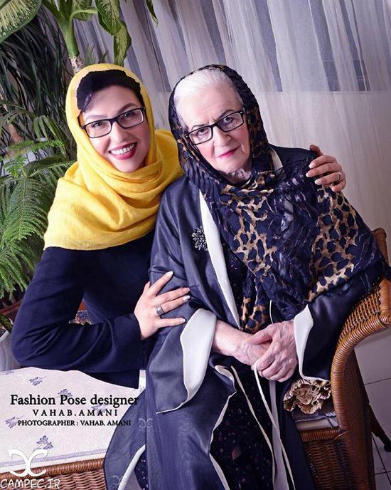 عکس های عیادت بازیگران مشهور زن از ملکه رنجبر