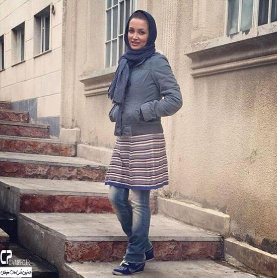عکس های جالب و زمستانی روناک یونسی به همراه همسر و پسرش