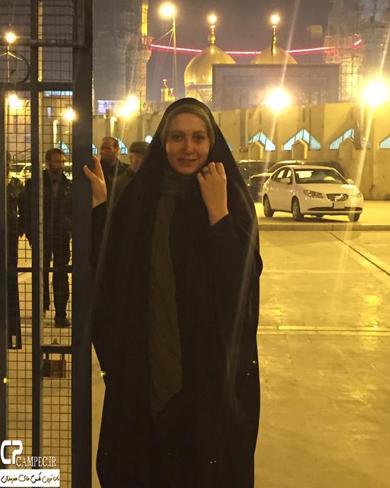 عکس های فریبا نادری در سفر به عراق برای اربعین