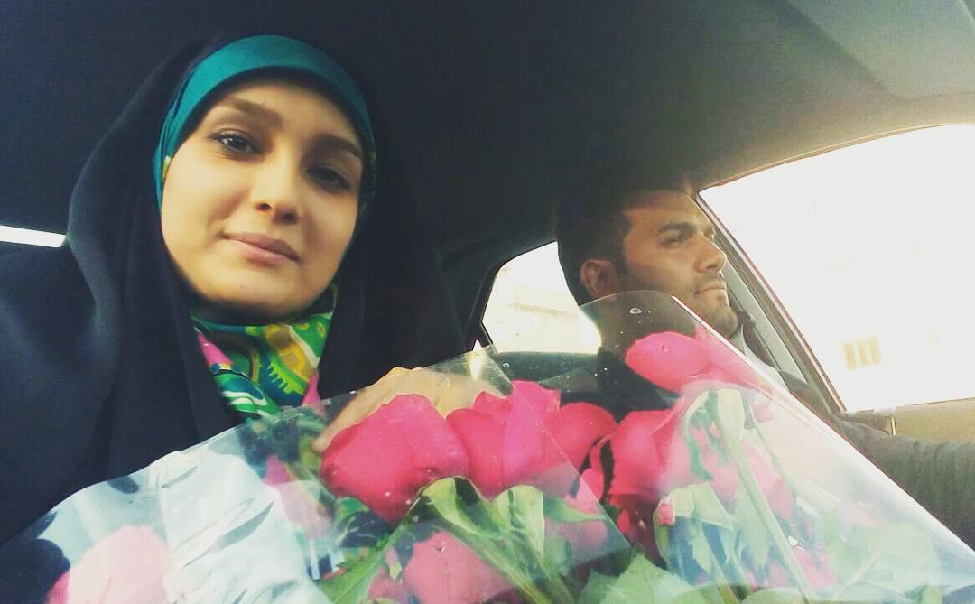 عکس های جدید و زیبای مژده خنجری مجری شبکه سه به همراه همسرش