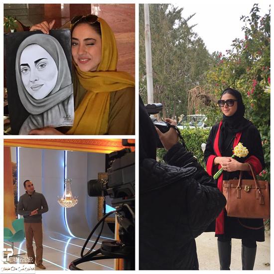 آزاده صمدی و بهاره کیان افشار در شیراز + تصاویر