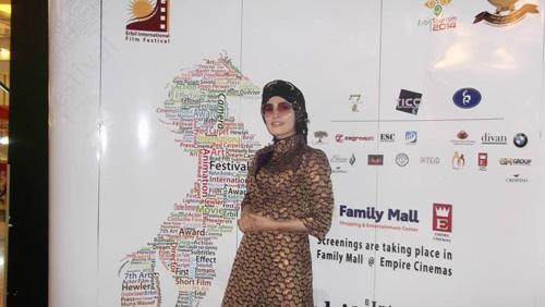 پوشش متفاوت اندیشه فولادوند در جشنواره اربیل + عکس
