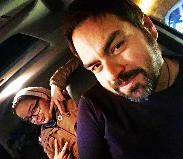 بازیگری که با همسر و فرزندش بهترین سفر و رستوران می رود + تصاویر
