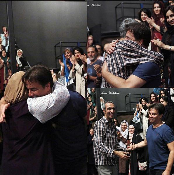 وقتی که بهاره رهنما همسرش پیمان قاسم خانی را در آغوش می کشد + تصاویر