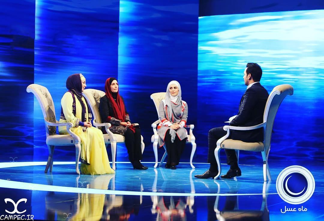 عکس های دیدنی بازیگران در پشت صحنه اولین قسمت برنامه ماه عسل ۹۵