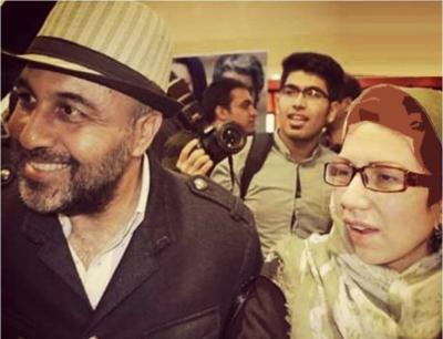 رضا عطاران و همسرش در شب اکران استراحت مطلق+عکس