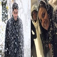 عکس های هنرمندان و بازیگران در روز زیبای برفی تهران