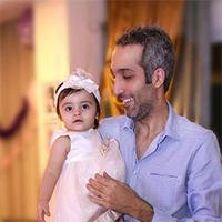 امیر مهدی ژوله کمدین برنامه خندوانه در تولد یک سالگی دخترش + تصاویر