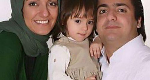 مهناز افشار در کناربرادر و برادرزاده اش