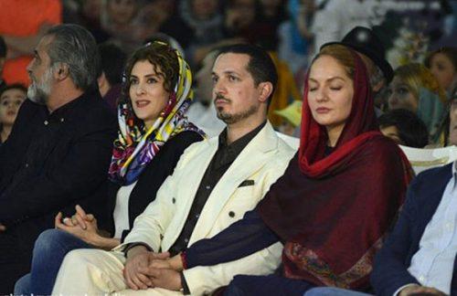 مهناز افشار و همسرش در اکران نهنگ عنبر دو