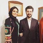 بازیگران در نمایشگاه امیر حسین مدرس و همسرش بهار بهاردوست