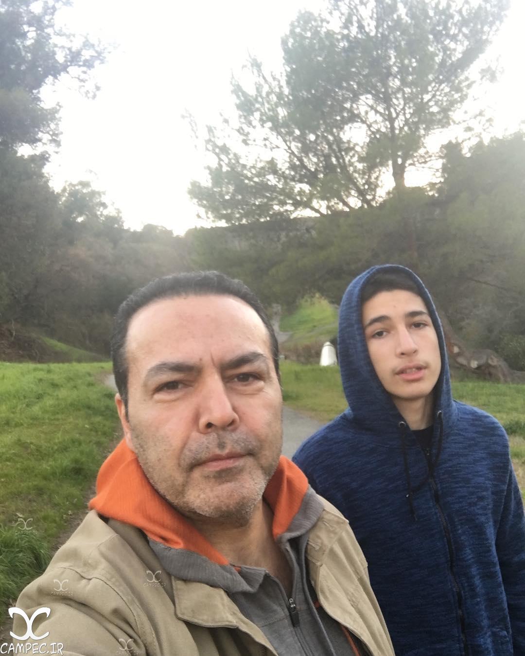 فریبرز عرب نیا و پسرش جانیار