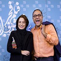 شیطنتهای رامبد جوان و همسرش نگار جواهریان در جشنواره فیلم فجر + تصاویر