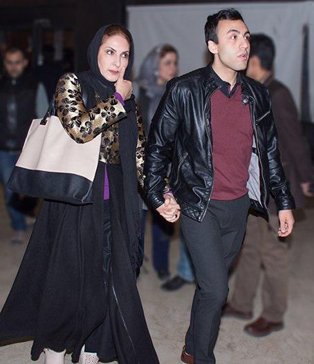 فاطمه گودرزی و همسرش