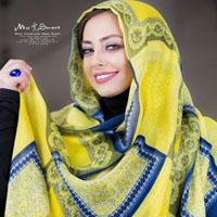 نفیسه روشن بازیگر زن ایرانی و عکس های زیبای وی در تبلیغات شال